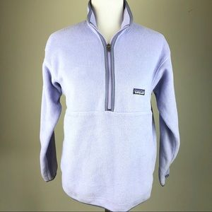 Patagonia Girls Lavender Half Zip Fleece Top XL 14